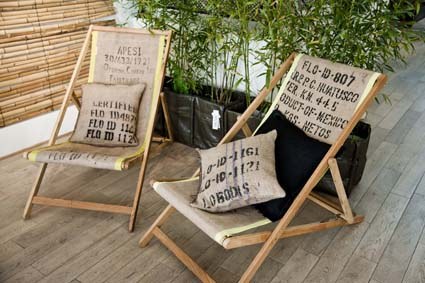 toile de jute sac a caf recycl. Black Bedroom Furniture Sets. Home Design Ideas